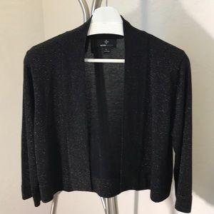 Ronni Nicole Black W/Sparkle Sweater Knit Shrug